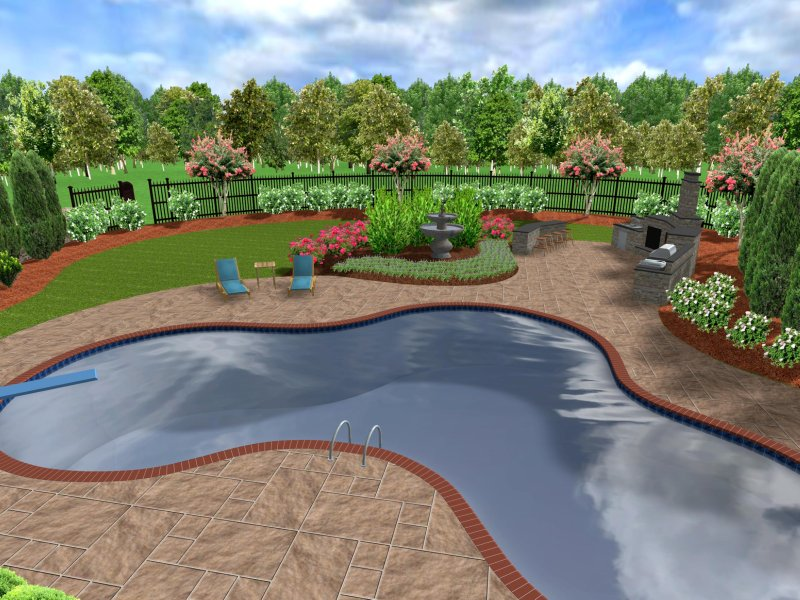 3d landscape designs for Georgian landscape design