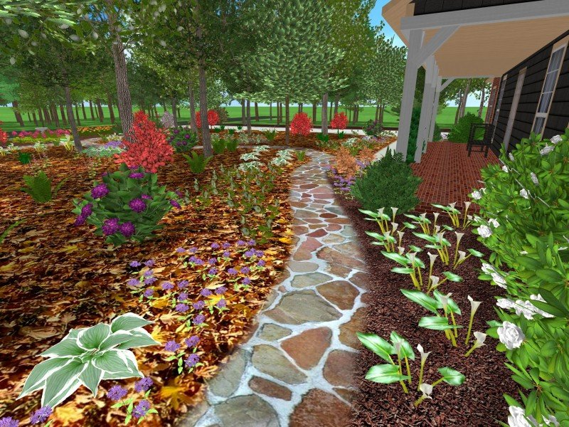 Best 3d Garden Design : D landscape designs