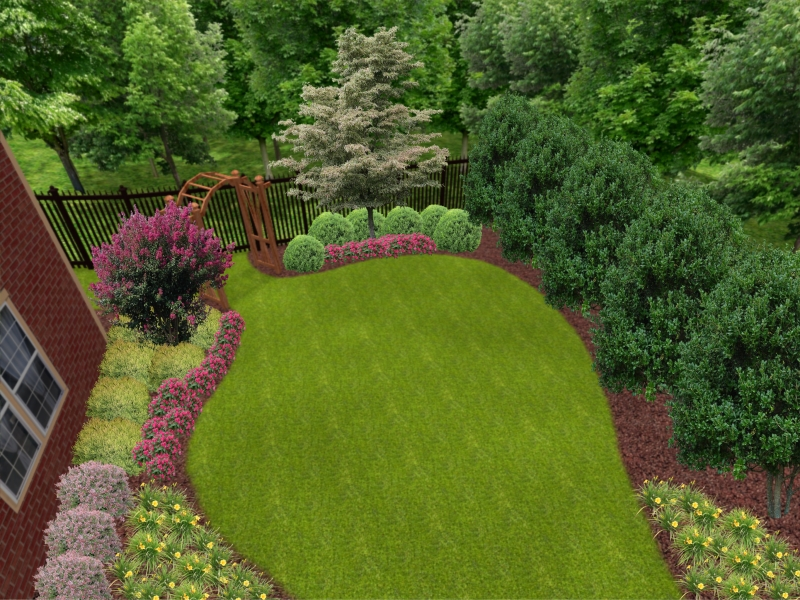 Landscape Design Gallery - Backyard design on a budget atlanta