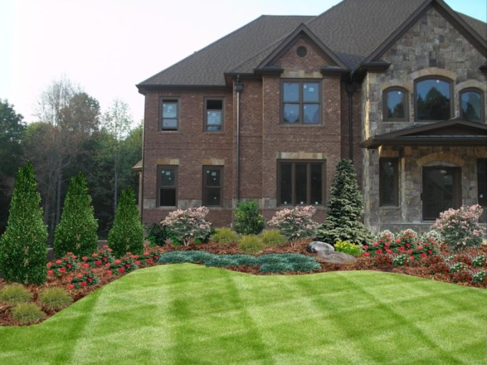 Landscaping foundation landscaping ideas for Home garden design atlanta