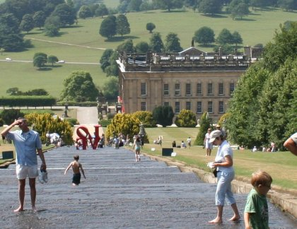 Chatsworth house statues