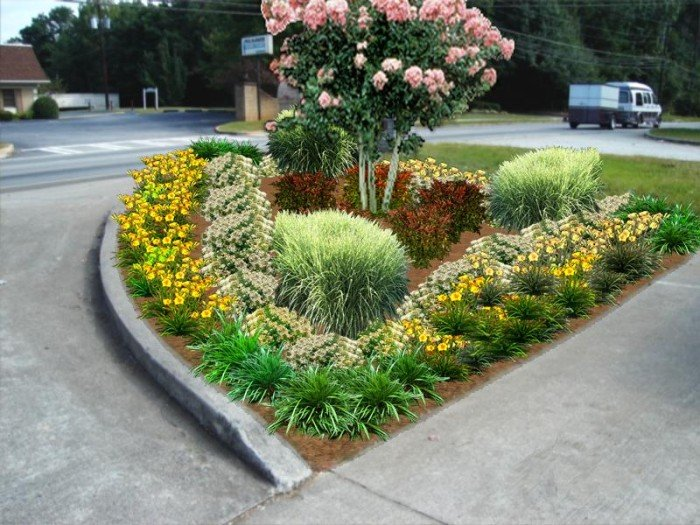 Landscaping photo design for Garden entrance designs