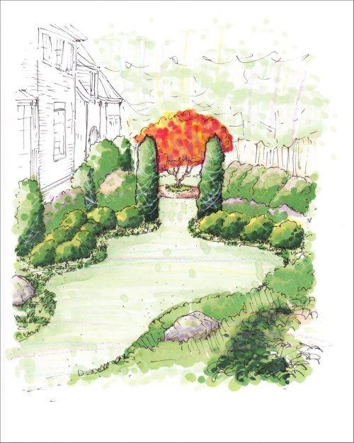 Atlanta Landscaping Plans: Perspective Drawings