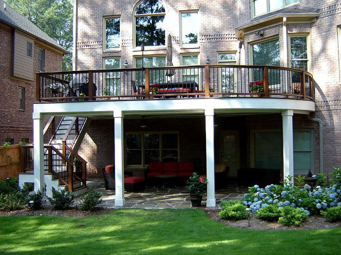 Curved Composite Deck Atlanta Georgia