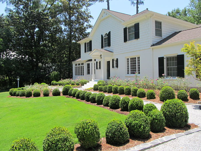 Formal Garden Boxwood Rose Garden Atlanta