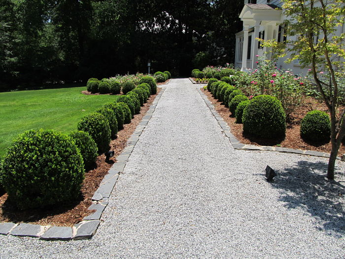 Formal Garden Granite Gravel Path Atlanta Georgia