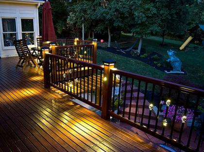 landscape lighting deck lighting