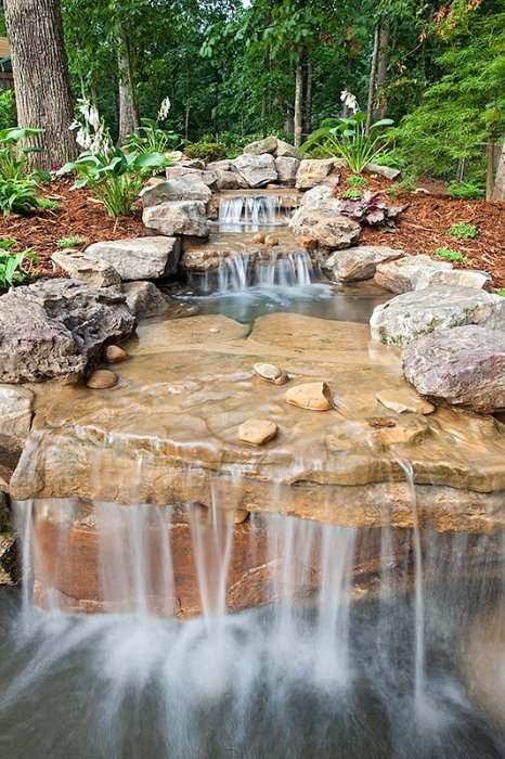 Landscape Waterfall Pond Atlanta Georgia
