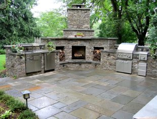 Botanica Atlanta | Landscape Design-Build-Maintain ... on Outdoor Kitchen And Fireplace Ideas id=87988