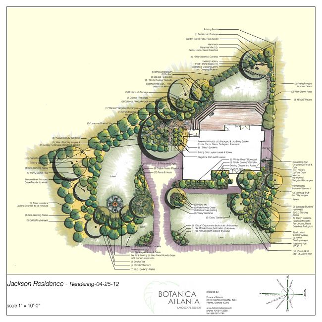 garden design with atlanta landscaping plans botanica atlanta landscape design with homeandgarden from botanicaatlantacom - Residential Landscape Design Ideas