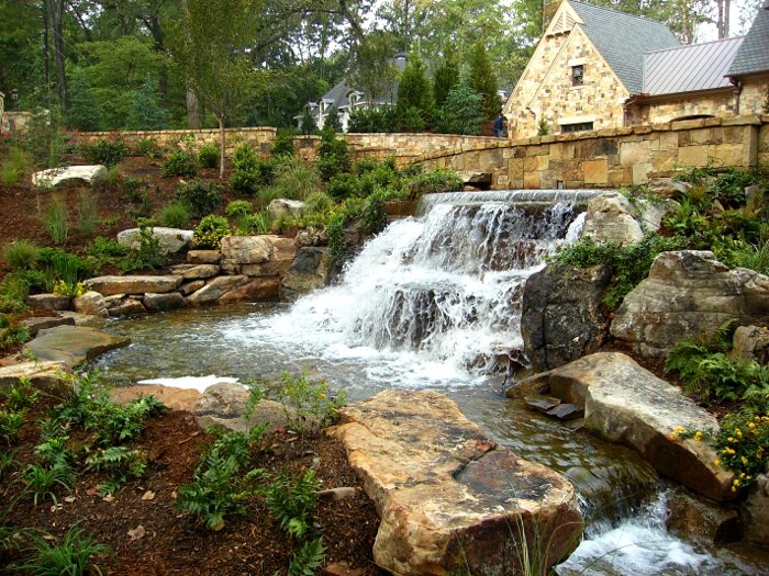 Stone Waterfall Buckhead Atlanta Georgia Jpg